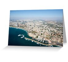 Aerial Photography of Old Jaffa Port, Israel Greeting Card