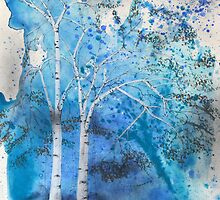 Blue Trees by mylesantstudios