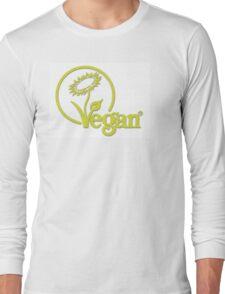 Vegan Symbol Long Sleeve T-Shirt