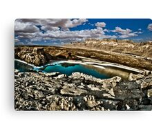 Water pools in sink holes on the shore of the Dead Sea, Israel Canvas Print