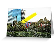 Melbourne bush and city Greeting Card