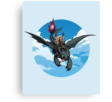 Toothless Targaryen Blue Canvas Print