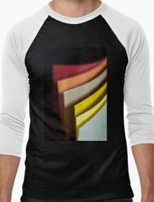 Colourful strips of cardboard as texture and background  Men's Baseball ¾ T-Shirt