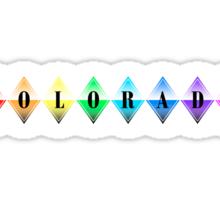 colorado rainbow diamonds Sticker