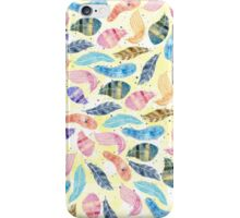 Watercolor feathers hand paint  iPhone Case/Skin