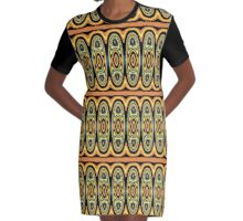 Ethnic geometric pattern Graphic T-Shirt Dress