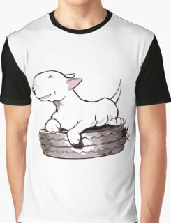 Bull Terrier On Board Funny Graphic T-Shirt