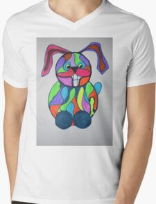 The Happy Hare Mens V-Neck T-Shirt