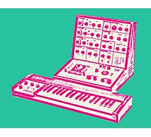 Pink VCS3 and DK1 design Photographic Print