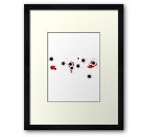 Bullet Hole Effect Funny Framed Print
