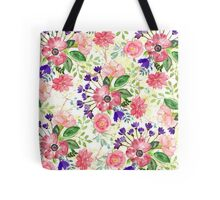 Watercolor garden flowers Tote Bag