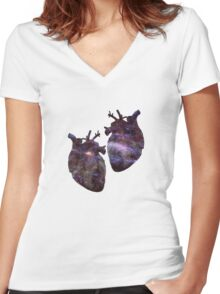 Doctor's hearts Women's Fitted V-Neck T-Shirt