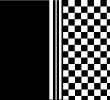 Stylish black and white ska inspired by Auslandesign