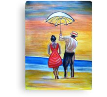 Romance on the Beach Canvas Print