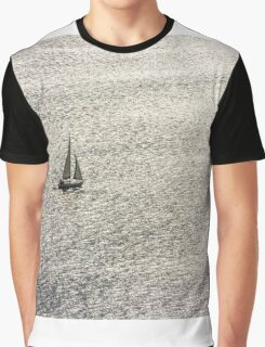 Sailing on a shimmering sea Graphic T-Shirt