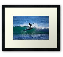 Woman Stand Up Paddleboarder Framed Print