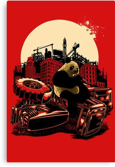 Angry Panda by eggzoo
