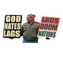 God Hates Lag Photographic Print