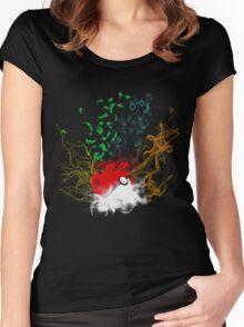 Elemental pokèball Women's Fitted Scoop T-Shirt