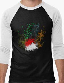 Elemental pokèball Men's Baseball ¾ T-Shirt