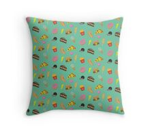 Junk Food Summer Throw Pillow