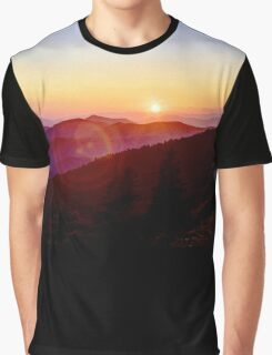 Blue Ridge Sunset Graphic T-Shirt