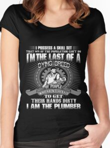I AM THE PLUMBER Women's Fitted Scoop T-Shirt