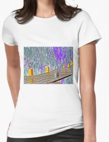 abstract landscape Womens Fitted T-Shirt