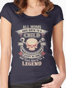 ALL MOMS GAVE BIRTH TO A CHILD Women's Fitted Scoop T-Shirt