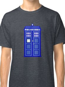 8-Bit Doctor Who Police Box. The TARDIS! Classic T-Shirt