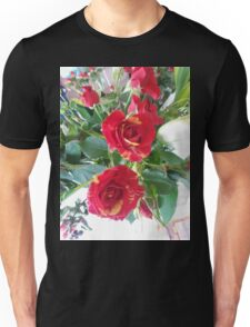 Red With A Dash Of Yellow Roses T-Shirt