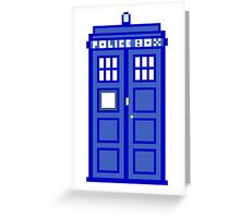 8-Bit Doctor Who Police Box. The TARDIS! Greeting Card