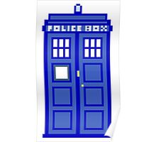 8-Bit Doctor Who Police Box. The TARDIS! Poster