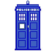 8-Bit Doctor Who Police Box. The TARDIS! Photographic Print