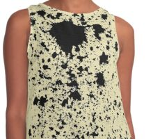 Ink on yellow fabric Contrast Tank