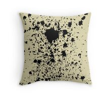 Ink on yellow fabric Throw Pillow
