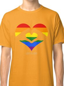 Love Is Love LGBT Rainbow Heart  Classic T-Shirt