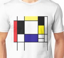 Mondrian Art, Minimalist,  red white blue yellow black Unisex T-Shirt