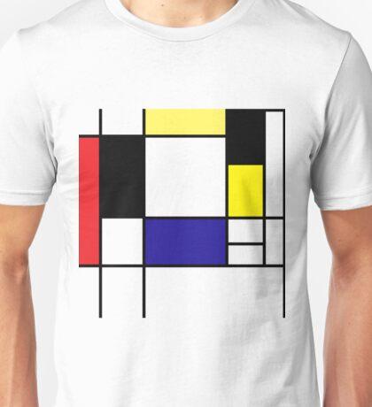 Mondrian Art, Minimalist,  red white blue yellow black Unisex T-Shirt