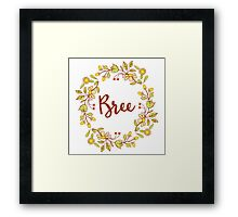 Bree lovely name and floral bouquet wreath Framed Print