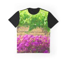 Vineyard with Bouganvillea Graphic T-Shirt