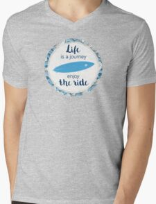 Life is a journey - surf waves Mens V-Neck T-Shirt