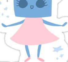 Robot Girls Will Save The World Sticker