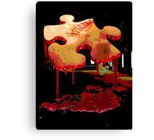 Jigsaw Piece of Flesh Canvas Print
