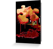 Jigsaw Piece of Flesh Greeting Card