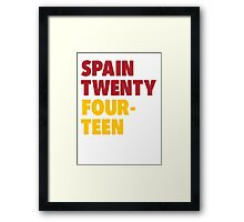 Team Spain for the World Cup 2014 Framed Print
