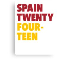 Team Spain for the World Cup 2014 Canvas Print