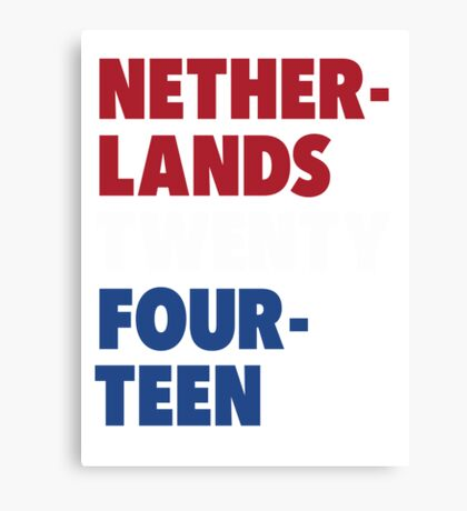 Team Netherlands for the World Cup 2014 Canvas Print