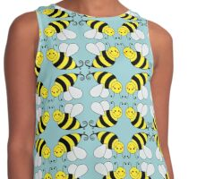 Bumble Bee Pattern Contrast Tank