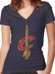 Cavaliers Women's Fitted V-Neck T-Shirt